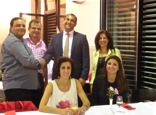 Le Chargé d'Affaires a.i. de l'Ambassade du Liban en Suisse Monsieur Mansour CHAYA rend visite à Rima et honore de sa présence PS Migrants